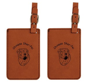 Shar Pei Head  Luggage Tag 2 Pack L3919
