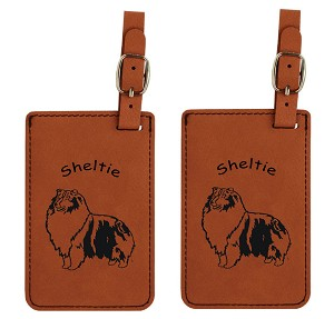 Sheltie Standing #2  Luggage Tag 2 Pack L3933