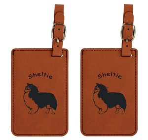 Sheltie Standing Luggage Tag 2 Pack L3937