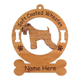 4001 Soft Coated Wheaten Standing #2 Ornament Personalized with Your Dog's Name