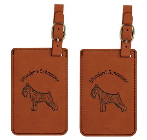 Standard Schnauzer Standing  Luggage Tag 2 Pack L4148
