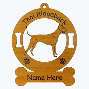 4162 Thai Ridgeback Standing Ornament Personalized with Your Dog's Name