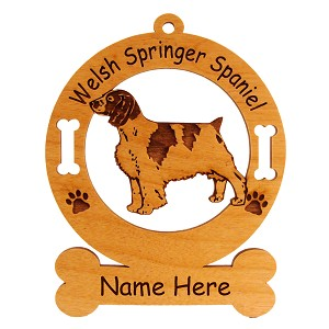 4206 Welsh Springer Spaniel Standing Ornament Personalized with Your Dog's Name