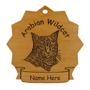 7052 Arabian Wildcat Ornament Personalized with Your Cat's Name