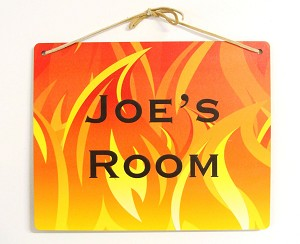 8x10 Fire Design Personalized Wall or Door Sign