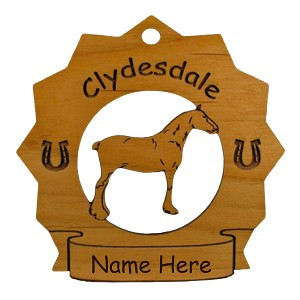 8099 Clydesdale Horse Ornament Personalized with Your Horse's Name