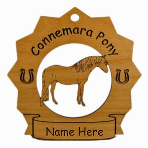 8105 Connemara Pony Ornament Personalized with Your Pony's Name