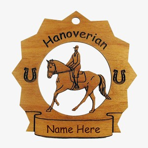 8146 Hanoverian Horse Ornament Personalized with Your Horse's Name