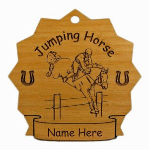 8163 Jumping Horse Ornament Personalized with Your Horse's Name