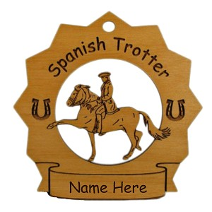 8289 Spanish Trotter Horse Ornament Personalized with Your Horse's Name