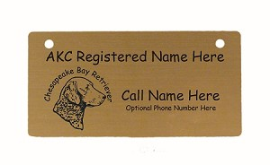 C2095 Cheseapeake Bay Retriever Head Crate Tag Personalized With Your Dog's Name