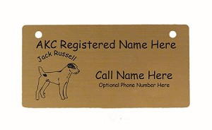 C3415 Jack Russell Standing Crate Tag Personalized With Your Dog's Name