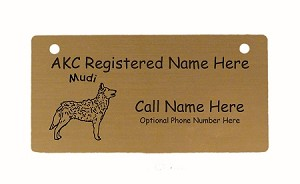 C3582 Mudi Standing Crate Tag Personalized With Your Dog's Name
