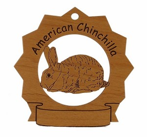 American Chinchilla Rabbit Ornament Personalized with Your Rabbit's Name