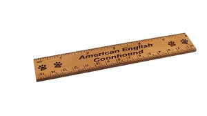 American English Coonhound 6 inch Alder Wood Ruler