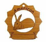American Rabbit Ornament Personalized with Your Rabbit's Name