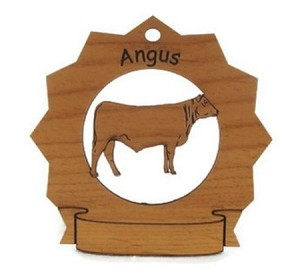 Angus Cow Ornament Personalized with Your Cow's Name