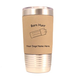 Barn Hunt Tube Tumbler 20 oz Polar Camel Tumbler with Lid Personalized with Your Dog's Name