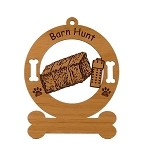 Barn Hunt 002 Dog Sport Ornament Personalized with Your Dog's Name
