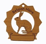 Belgian Hare Ornament Personalized with Your Hare's Name