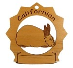 Californiana Rabbit Ornament Personalized with Your Rabbit's Name