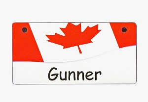 Canada Flag Crate Tag Personalized With Your Dog's Name