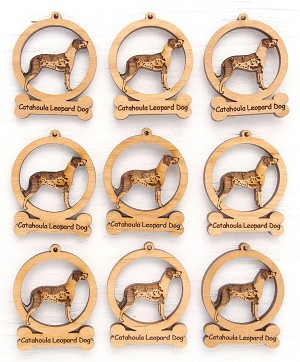 Catahoula Leopard Dog Ornament Minis - Set of 9