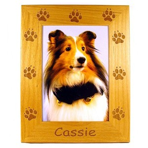 Dog Paw Picture Frame Available in 3 Sizes Personalized with Your Dog's Name