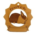 Dutch Rabbit Ornament Personalized with Your Rabbit's Name
