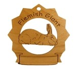 Flemish Giant Rabbit Ornament Personalized with Your Rabbit's Name
