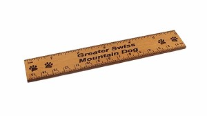Greater Swiss Mountain Dog 6 inch Alder Wood Ruler