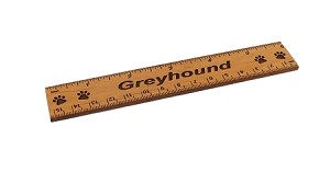 Greyhound Dog 6 inch Alder Wood Ruler