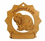 Holland Lop Rabbit Ornament Personalized with Your Rabbit's Name