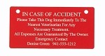 In Case of Accident Crate Tag Personalized
