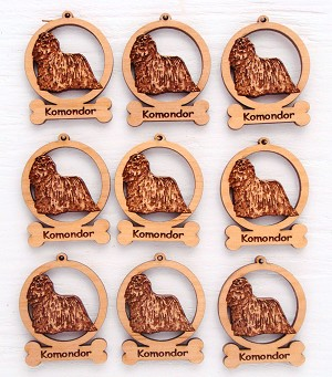 Komondor Ornament Minis - Set of 9