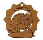 Lionhead Lop Rabbit Ornament Personalized with Your Rabbit's Name