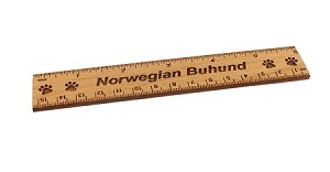 Norwegian Buhund Dog 6 inch Alder Wood Ruler