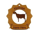 Nubian Goat Ornament Personalized with Your goat's Name