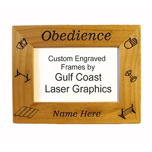Obedience Picture Frame Available in 3 Sizes Personalized with Your Dog's Name