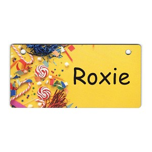Party Favors Design Crate Tag Personalized With Your Dog's Name