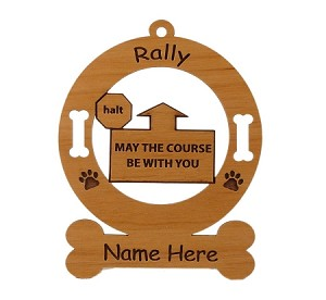 Rally - May The Course Be With You  Dog Sport Ornament Personalized with Your Dog's Name