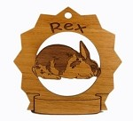 Rex Rabbit Ornament Personalized with Your Rabbit's Name