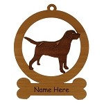 083477 Black Labrador Retriever Standing Ornament Personalized with Your Dog's Name