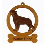 083832 Rottweiler Standing #1 Ornament Personalized with Your Dog's Name