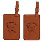 Affenpenscher Standing Luggage Tag 2 Pack L1015