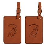 Affenpinscher Sitting Luggage Tag 2 Pack L1016