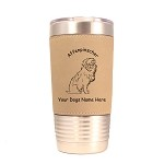 1016 Affenpinscher Sitting 20oz Polar Camel Tumbler with Lid Personalized with Your Dog's Name