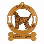1026 Afghan Standing Ornament Personalized With Your Dog's Name