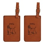 Afghan Standing Luggage Tag 2 Pack L1039