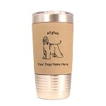1039  Afghan Standing 20oz Polar Camel Tumbler with Lid Personalized with Your Dog's Name